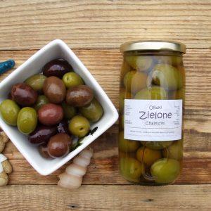 duże zielone oliwki chalkidiki Oliwowo