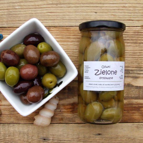 greckie zielone oliwki bez pestki chalkidiki, Oliwowo