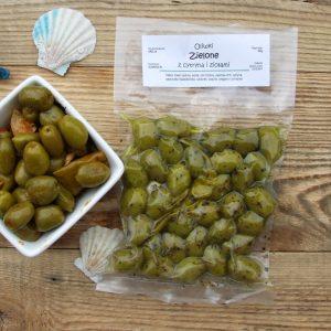 zielone oliwki chalkidiki w ziołach Oliwowo