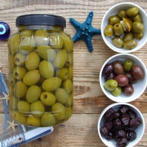 zielone oliwki bez pestki chalkidiki Oliwowo