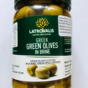 zielone oliwki z ostrą papryczką OLIWOWO