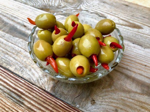 oliwki ostre z piri piri Oliwowo